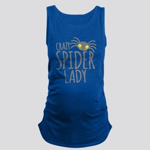 Crazy Spider lady Maternity Tank Top