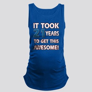 21 year old birthday designs Maternity Tank Top