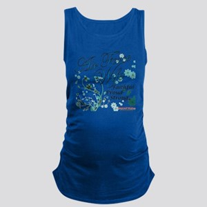 air force wife flowers blue Maternity Tank Top