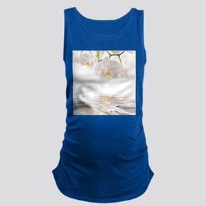 Orchids Reflection Maternity Tank Top
