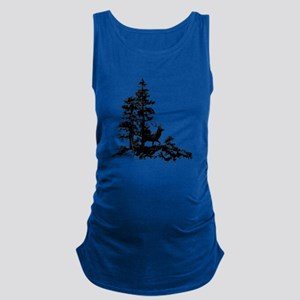 Black White Stag Deer Animal Nature Maternity Tank
