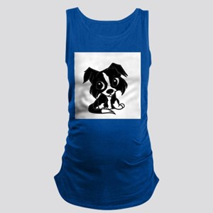 border collie 2 cartoon Tank Top