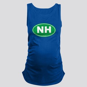New Hampshire NH Euro Oval Maternity Tank Top