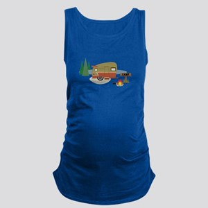 Camping Trailer Maternity Tank Top