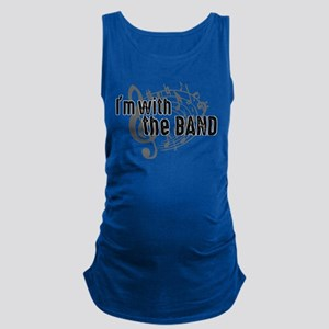 bolder band front Maternity Tank Top
