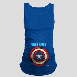 Captain America Comic Shield Maternity Tank Top