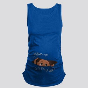 Funny Peeking Out Baby June Maternity Tank Top