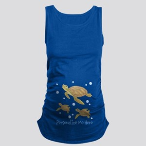 Personalized Sea Turtle Maternity Tank Top