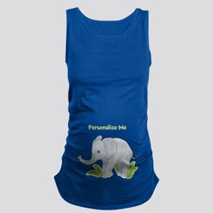 Personalized Elephant Maternity Tank Top