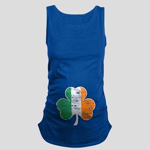 Vintage Irish Flag Shamrock Maternity Tank Top