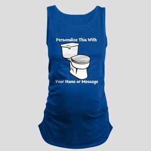 PERSONALIZED Toilet Graphic Maternity Tank Top