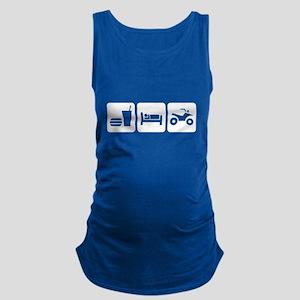 Eat, Sleep, ATV Maternity Tank Top