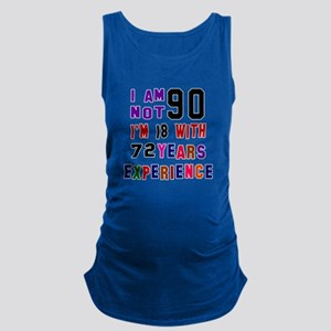 90 Birthday Designs Maternity Tank Top