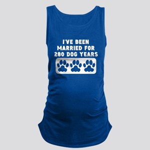 40th Anniversary Dog Years Maternity Tank Top