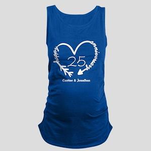 Custom Anniversary Doodle Heart Maternity Tank Top