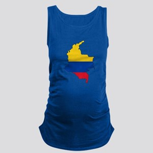 Colombian Flag Silhouette Maternity Tank Top