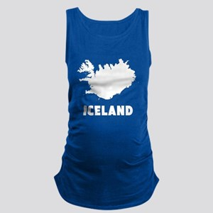 Iceland Silhouette Maternity Tank Top