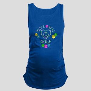 Peace Love Golf Maternity Tank Top