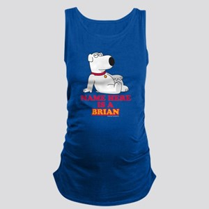 Family Guy Brian Personalized Maternity Tank Top