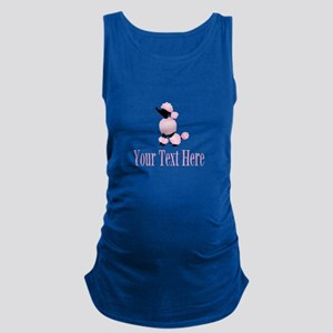 French Poodle Pink Maternity Tank Top