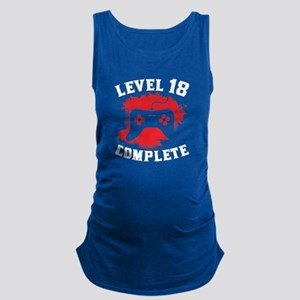 Level 18 Complete 18th Birthday Maternity Tank Top