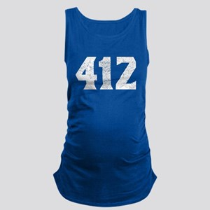 412 Pittsburgh Area Code Maternity Tank Top