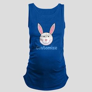 Custom Easter Bunny Maternity Tank Top