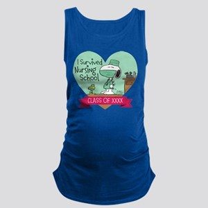 Snoopy Woodstock Nursing School Maternity Tank Top