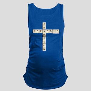 Scrabble Champion Maternity Tank Top