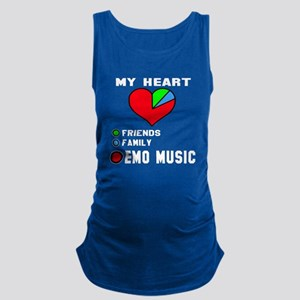 My Heart Friends, Family, Emo M Maternity Tank Top