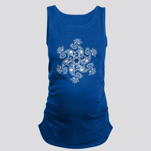 Fractal Snowflake Maternity Tank Top