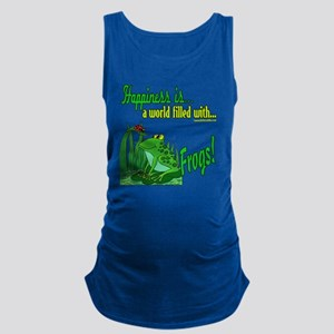 HappinessFrogs copy Maternity Tank Top