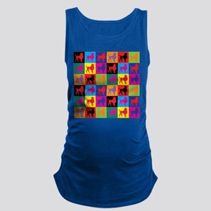 Pop Art Poodle Maternity Tank Top