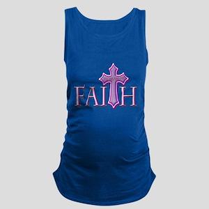 Woman of Faith Maternity Tank Top