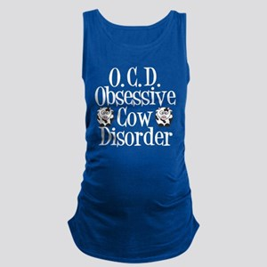 Obsessive Cow Disorder Maternity Tank Top