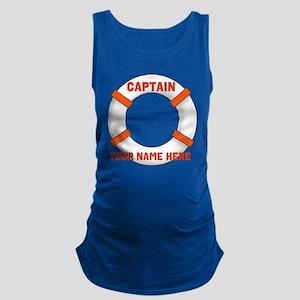 Custom Captain Maternity Tank Top
