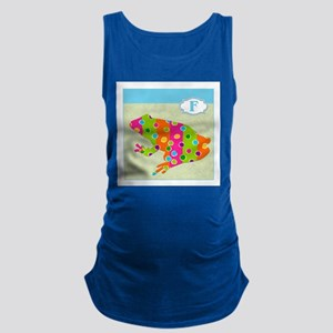 F is for Frog Maternity Tank Top