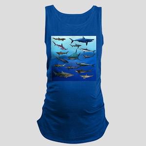 Shark Gathering Maternity Tank Top