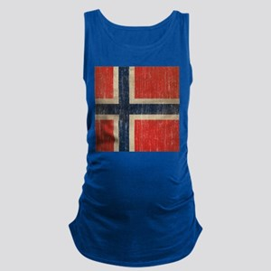Vintage Norway Flag Maternity Tank Top
