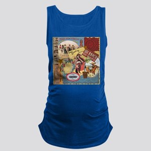 Vintage Western cowgirl collage Maternity Tank Top