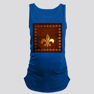 Old Leather with gold Fleur-de-Lys Maternity Tank