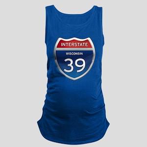 Interstate 39 Maternity Tank Top