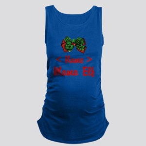 Personalized Mama Elf Maternity Tank Top
