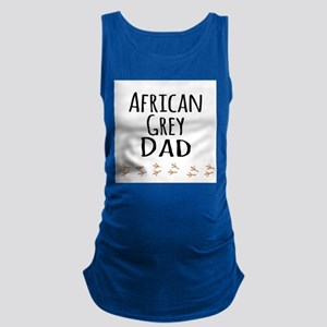 African Grey Dad Maternity Tank Top