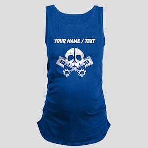 Custom Gearhead Skull Maternity Tank Top