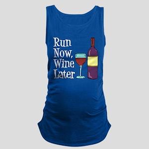 Run Now Wine Later Maternity Tank Top