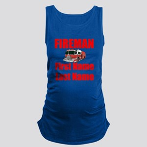 Fireman Maternity Tank Top