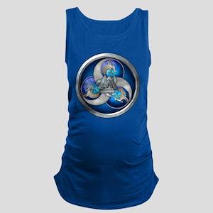 Blue Norse Triple Dragons Maternity Tank Top
