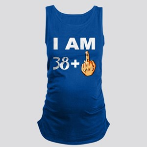 Middle Finger 39th Birthday Maternity Tank Top