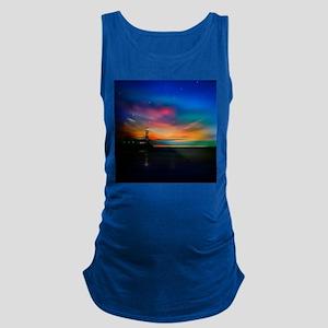 Sunrise Over The Sea And Lighthouse Maternity Tank